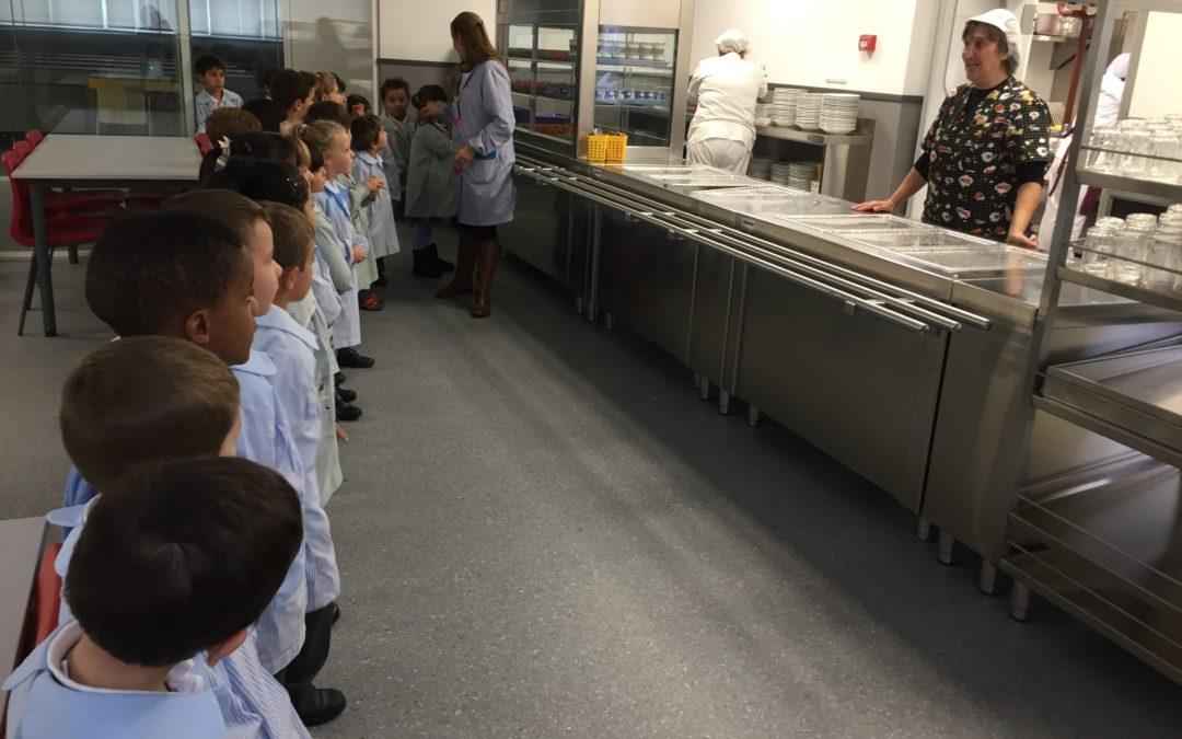 Visitamos la cocina del colegio