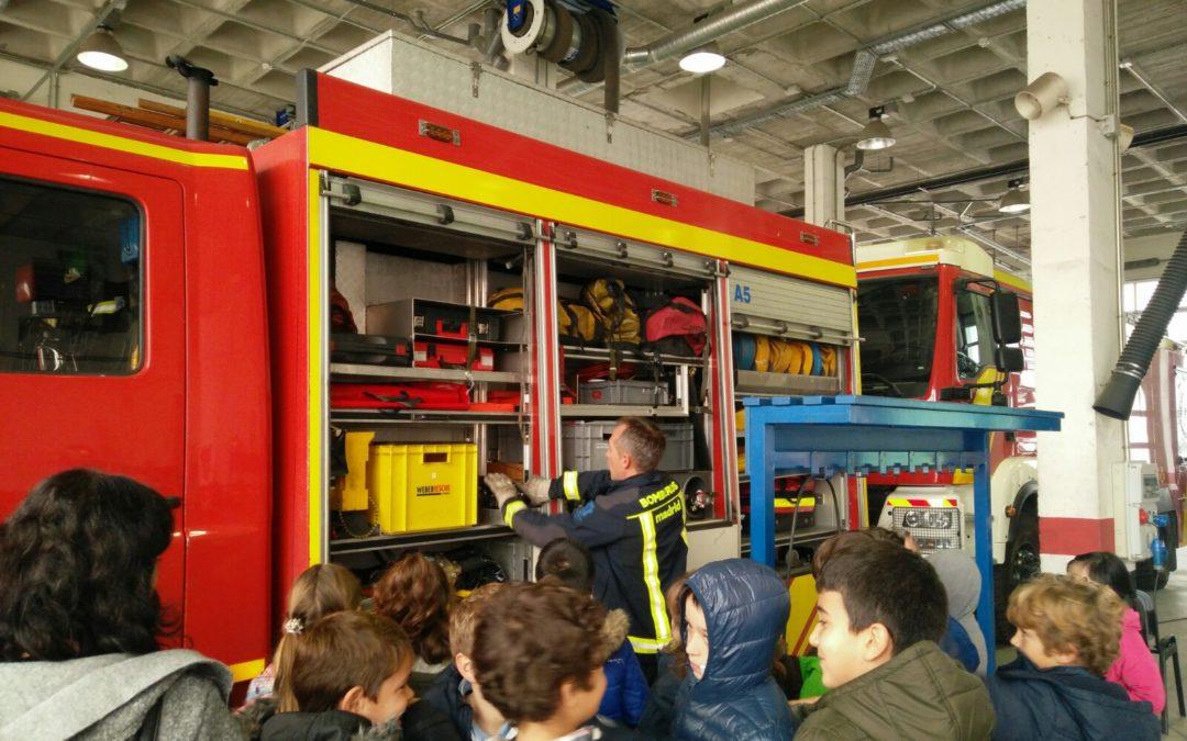 Visita a los bomberos de Madrid