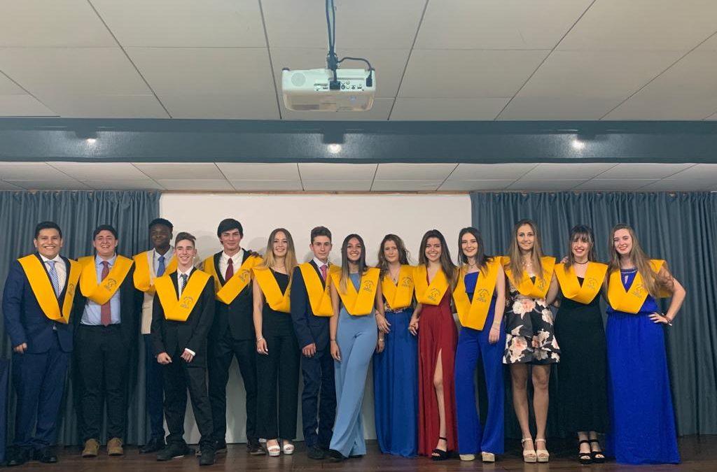 Graduación de alumnos de 2.º de bachillerato